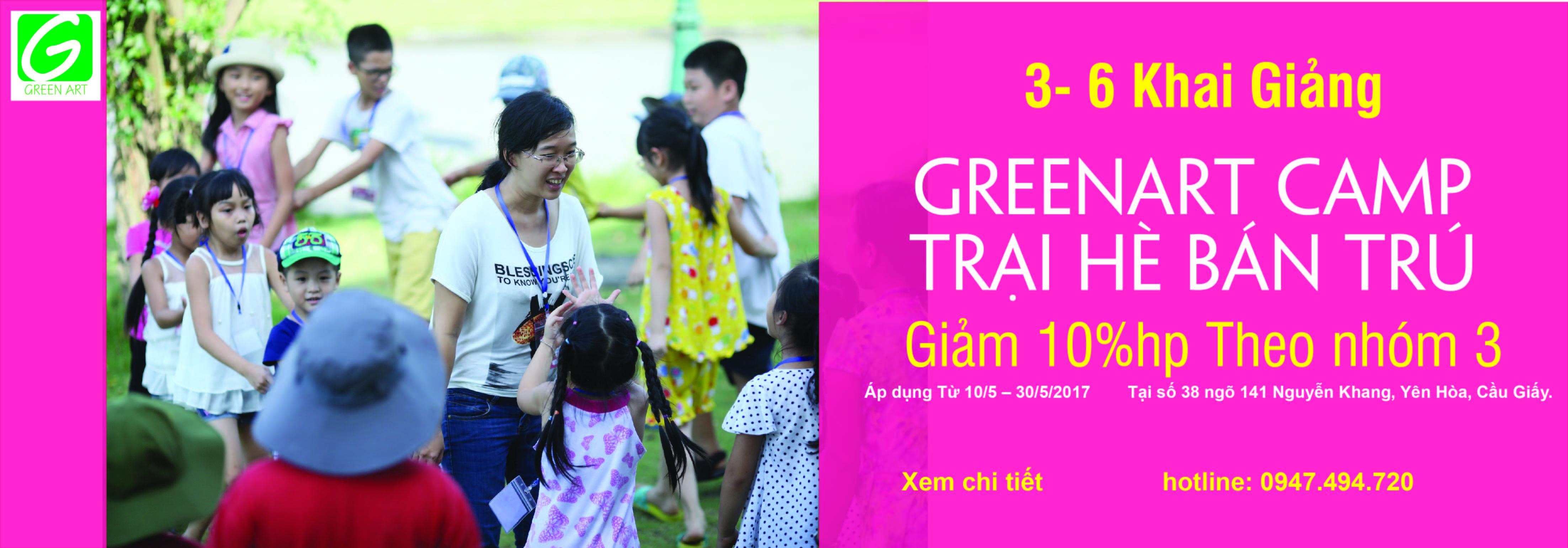 GREEN ART CAMP – Trại hè bán trú